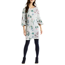 Buy Joules Gardenia Bell Sleeve Dress, Silver Botanical Online at johnlewis.com