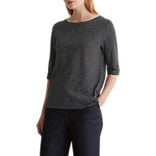Buy Toast Half Sleeve Stripe T-Shirt, Anthracite/Washed White Online at johnlewis.com