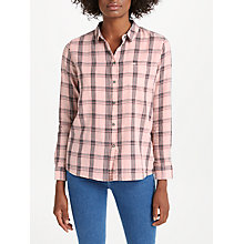 Buy Lee Ultimate Check Shirt, Faded Pink Online at johnlewis.com