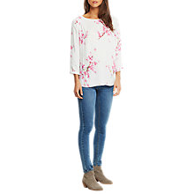 Buy Joules Kayla Printed Top, Cream Blossom Online at johnlewis.com