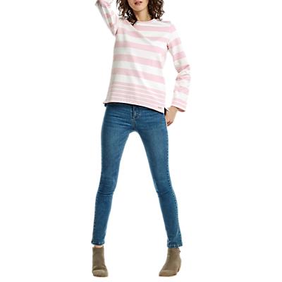 Joules Clemence Stripe Sweatshirt, Pink