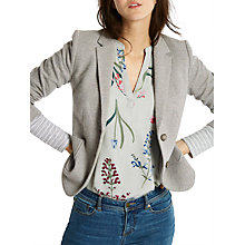 Buy Joules Ellice Herringbone Jersey Blazer, Grey Marl Online at johnlewis.com