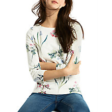 Buy Joules Harbour 3/4 Sleeve Printed Jersey Top, Cream Botanical Print Online at johnlewis.com