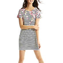 Buy Joules Harbour Short Sleeve Jersey Dress, Blossom Print Stripe Online at johnlewis.com