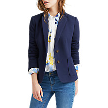 Buy Joules Herringbone Jersey Blazer, Navy Online at johnlewis.com