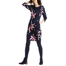 Buy Joules Beth Printed Ponte Dress, French Navy Blossom Online at johnlewis.com