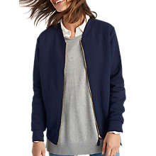 Buy Joules Millie Quilted Bomber Jacket, Navy Online at johnlewis.com
