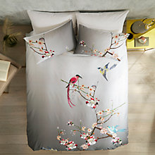 Buy Ted Baker Flight of the Orient Cotton Bedding, Grey Online at johnlewis.com