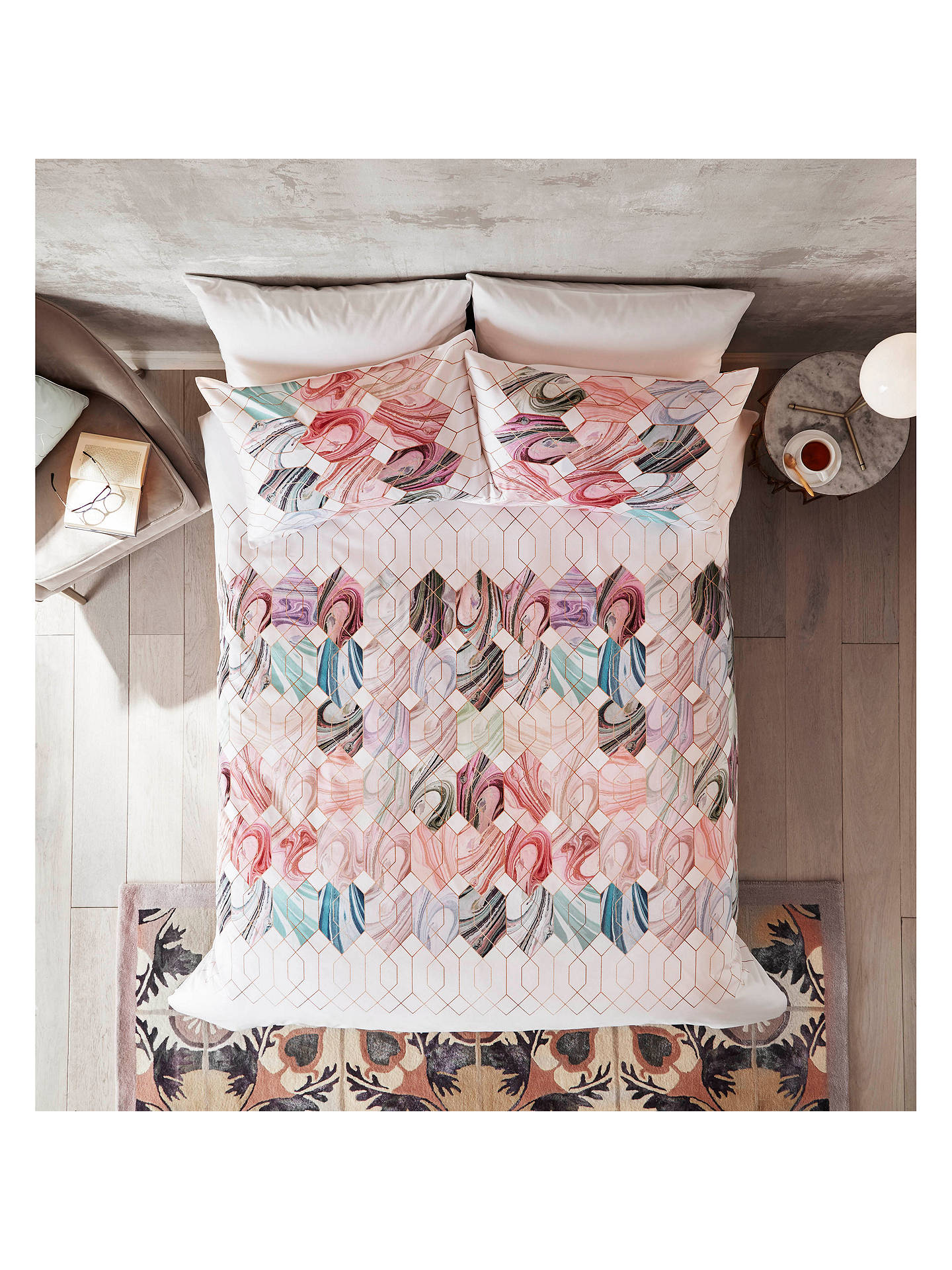 BuyTed Baker Sea Of Clouds Double Duvet Cover, Mint Online at johnlewis.com