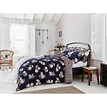 Buy Joules Painted Poppy Bedding, Navy Online at johnlewis.com