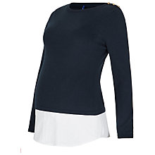 Buy Séraphine Alanis Double Layer Maternity Top, Navy Online at johnlewis.com