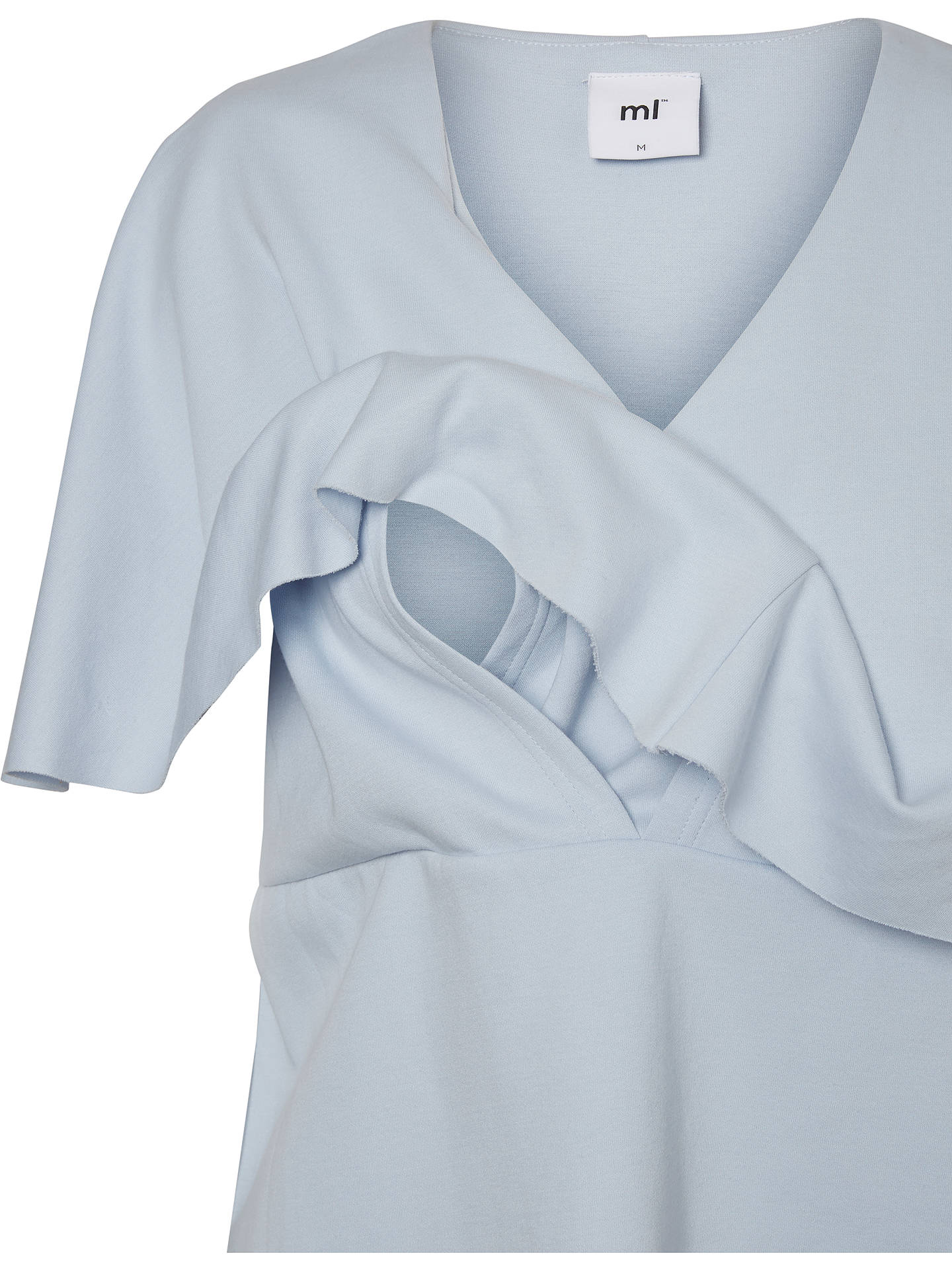 BuyMamalicious Elisa Maternity Nursing Jersey Blouse, Blue, XL Online at johnlewis.com