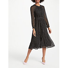Buy Boden Erica Dress, Black Polka Dot Online at johnlewis.com