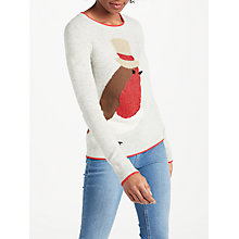 Buy Boden Christmas Jumper, Robin Intarsia Online at johnlewis.com