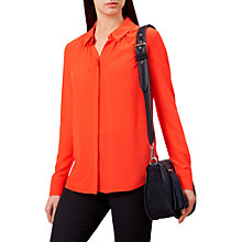 Buy Hobbs Calla Silk Shirt, Chilli Red Online at johnlewis.com