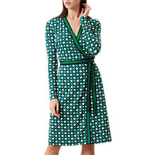 Buy Hobbs Jasmine Wrap Dress, Apple Green Online at johnlewis.com