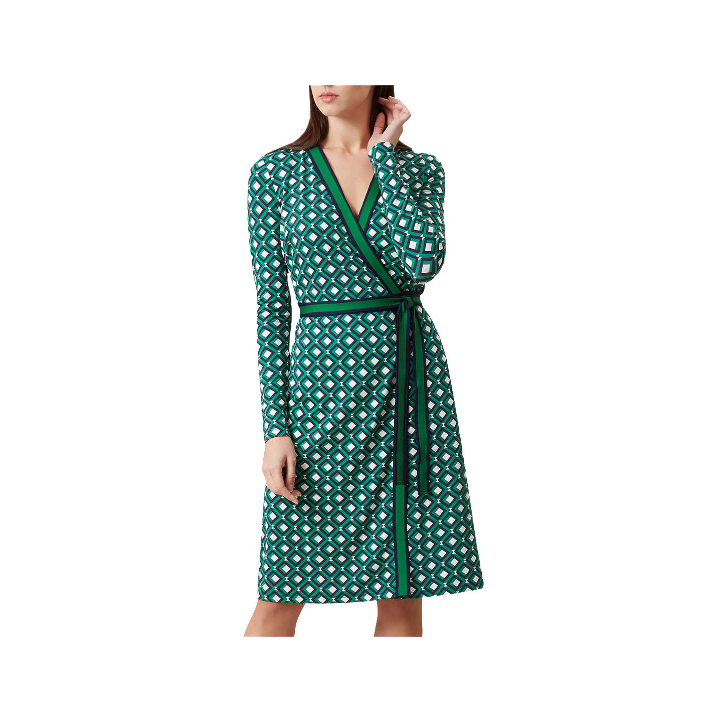 Hobbs Jasmine Wrap Dress, Apple Green at John Lewis