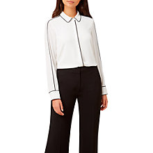 Buy Hobbs Demi Blouse, Ivory/Black Online at johnlewis.com