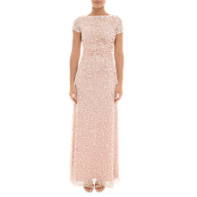 Buy Adrianna Papell Sequin Drape Cowl Back Dress, Blush Online at johnlewis.com