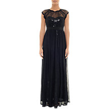 Buy Adrianna Papell Chantilly Sequin Embellishment Lace Maxi Dress, Black Online at johnlewis.com
