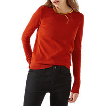 Buy Jigsaw Bow Back Jumper, Carnelian Red Online at johnlewis.com