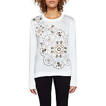Buy Ted Baker Holz Majestic Woven Front Jumper, Ivory Online at johnlewis.com