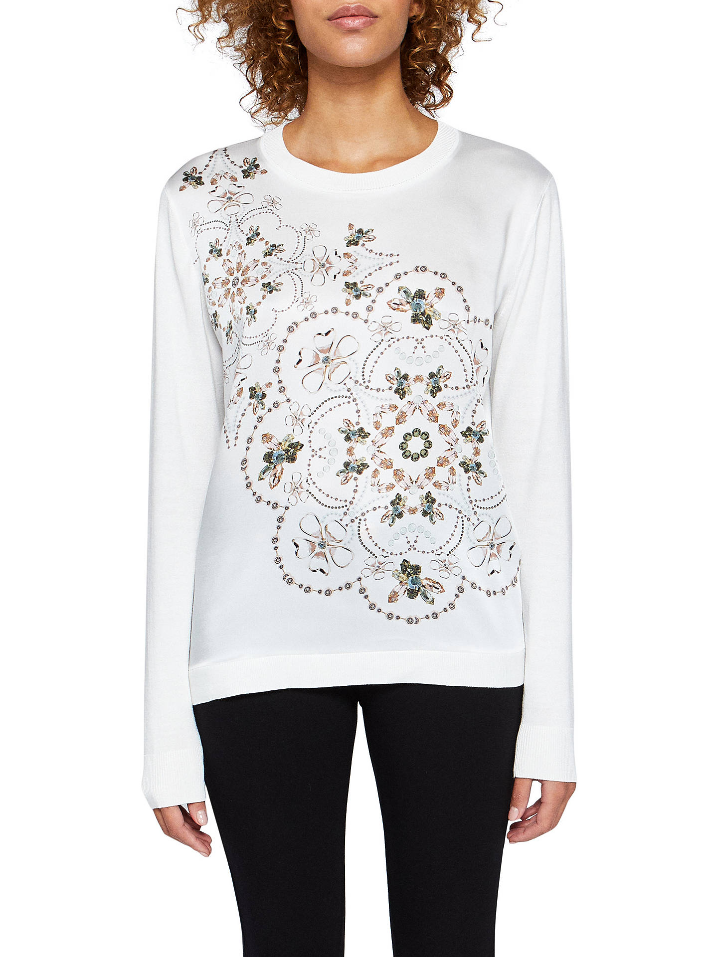 c45000aae4684 Buy Ted Baker Holz Majestic Woven Front Jumper