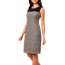 Buy Hobbs Lucia Tailored Dress, Black/Multi Online at johnlewis.com