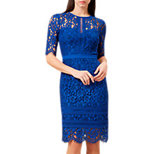 Buy Hobbs Penny Floral Lace Dress, Royal Blue Online at johnlewis.com