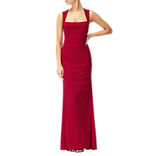 Buy Adrianna Papell Sleeveless Jersey Gown, Cardigan Red Online at johnlewis.com