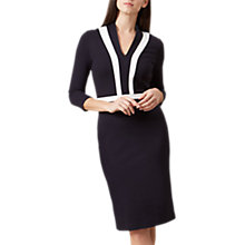 Buy Hobbs Orchid Panel Detail Tailored Dress, Navy/Ivory Online at johnlewis.com
