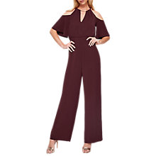 Buy Damsel in a Dress Asha Double Layer Jumpsuit, Port Online at johnlewis.com