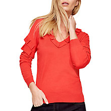 Buy Damsel in a dress Renee Ruffle Jumper, Coral Online at johnlewis.com
