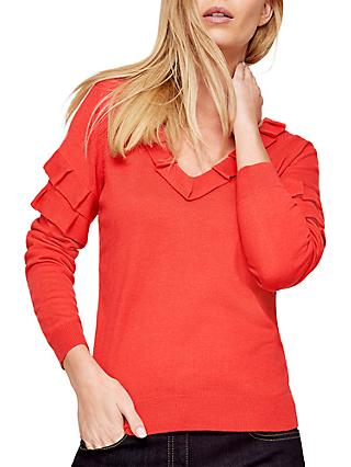 Damsel in a Dress Renee Ruffle Jumper, Coral