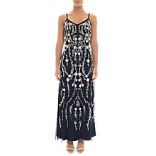 Buy Adrianna Papell Petite Bead and Sequin Embellishment Maxi Dress, Midnight Online at johnlewis.com