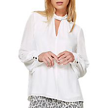 Buy Damsel in a Dress Metal Trim Sunny Blouse, Ivory Online at johnlewis.com
