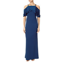 Buy Adrianna Papell Cold Shoulder Popover Beaded Dress, Sapphire Online at johnlewis.com