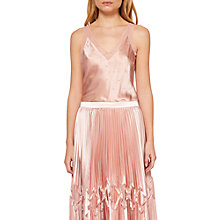 Buy Ted Baker Zaneti V-Neck Sparkle Silk Cami, Rosegold Online at johnlewis.com