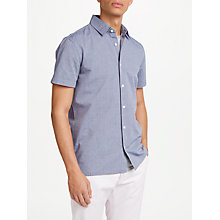 Buy Edwin Nimes Short Sleeve Printed Shirt, Blue Online at johnlewis.com