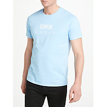 Buy Edwin Japan Short Sleeve T-Shirt, Pool Online at johnlewis.com