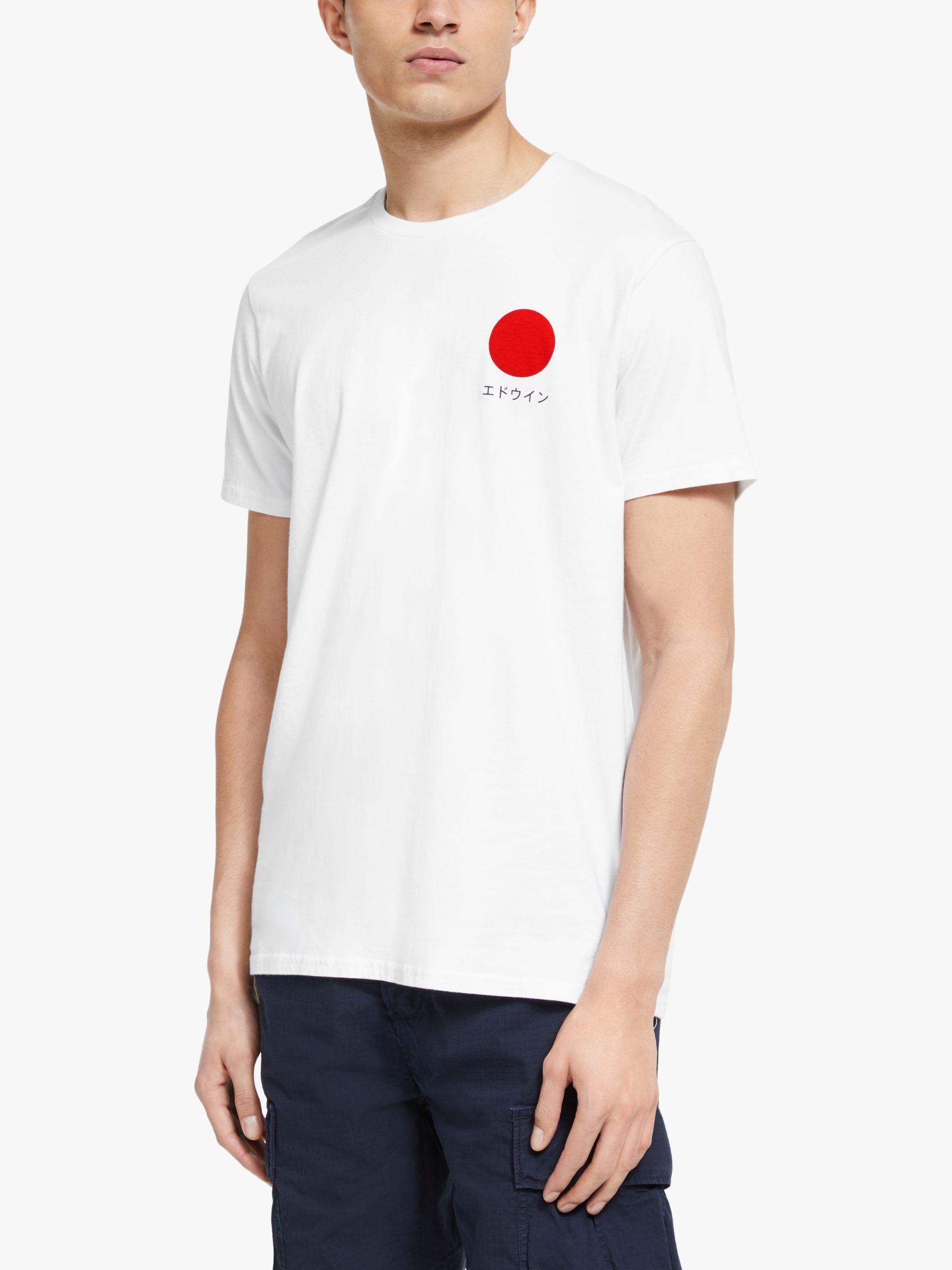 Edwin Edwin Japanese Sun Short Sleeve T-Shirt, White