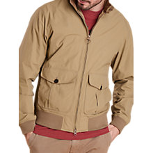 Buy Barbour Land Rover Defender Belgae Harrington Jacket, Stone Online at johnlewis.com