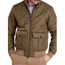 Buy Barbour Land Rover Defender Dere Quilt Harrington Jacket, Olive Online at johnlewis.com