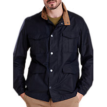 Buy Barbour Land Rover Defender Novantae Jacket, Navy Online at johnlewis.com