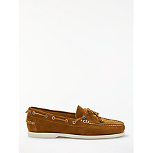 Buy Polo Ralph Lauren Millard Suede Boat Shoe, Tobacco Online at johnlewis.com