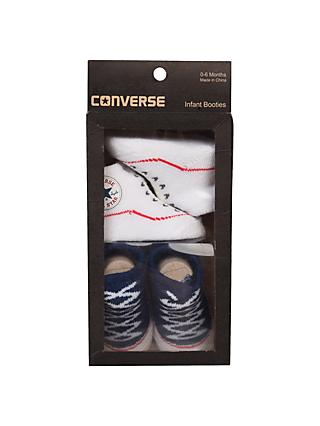 New baby gifts baby gifts baby child john lewis converse baby booties pack of 2 navy negle Images