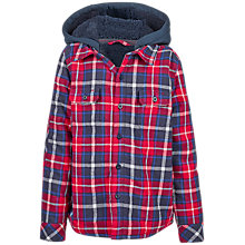 Buy Fat Face Boys' Warmwell Shacket, Red Online at johnlewis.com