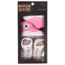 Buy Converse Baby Booties, Pack of 2, Pink Online at johnlewis.com