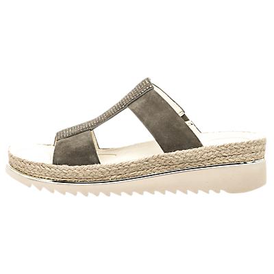 Gabor Hooch Embellished Sandals, Khaki Suede