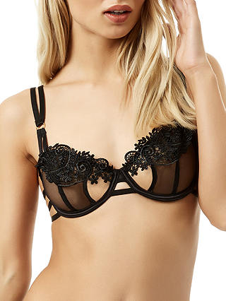 Buy Bluebella Julienne Bra, Black, 32B Online at johnlewis.com